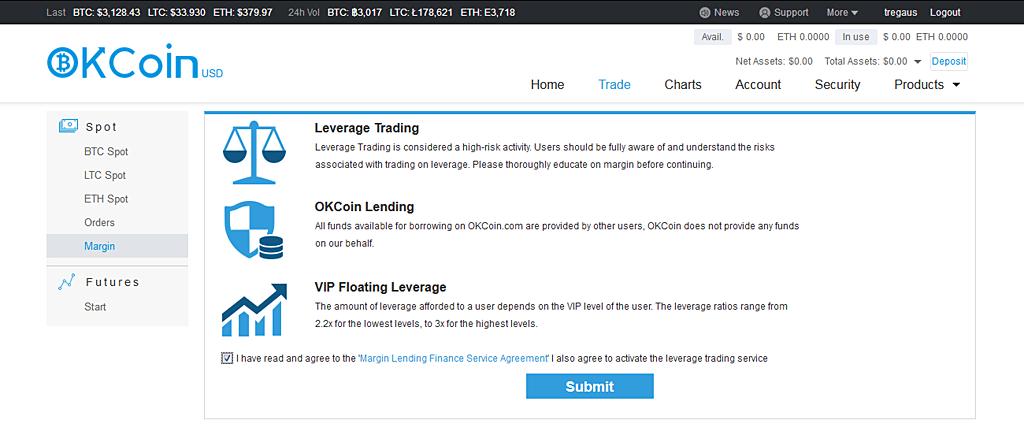 Enabling margin trading