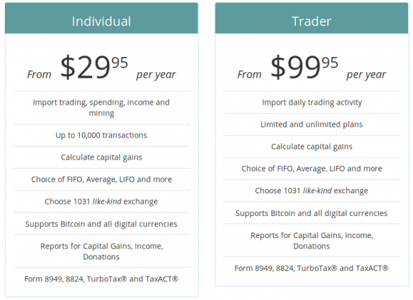 bitcoin.tax pricing