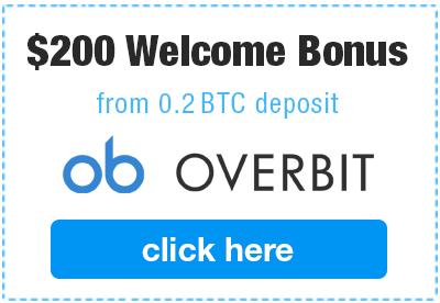 Overbit welcome bonus