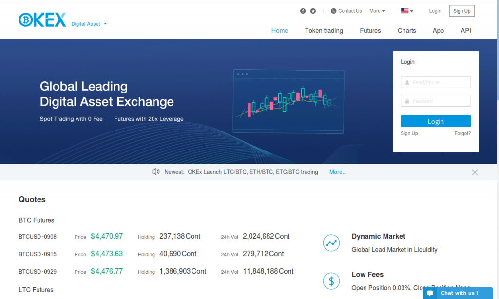Okex - futures trading