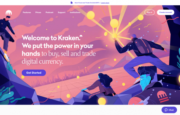 Kraken crypto trading in the USA