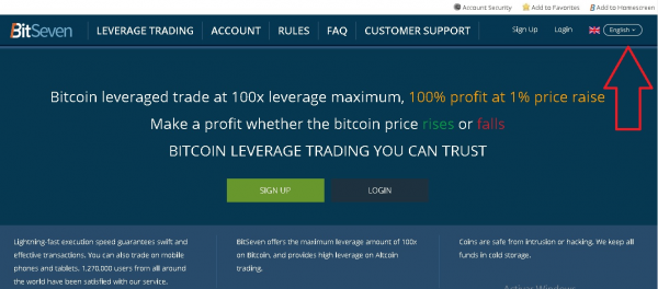 leveraged Bitcoin short trades on BitSeven