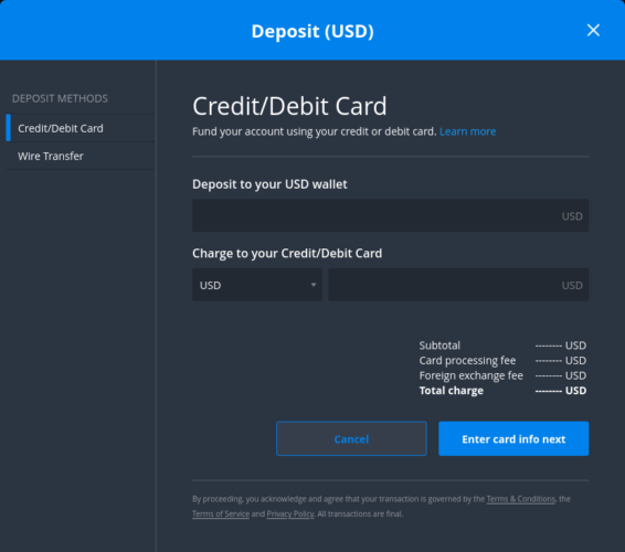 Bittrex accepting USDand EUR deposit