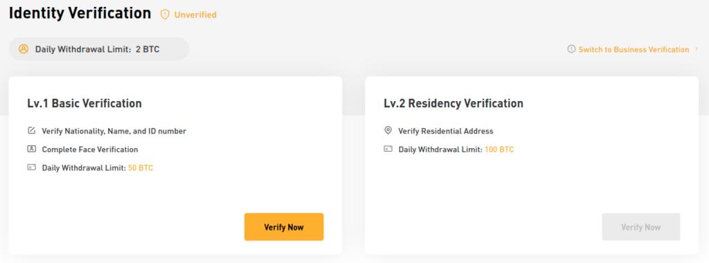 Bybit ID verification
